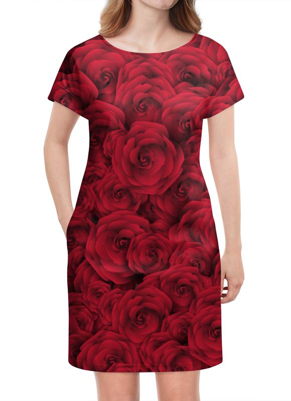 Платье летнее Printio Розочки латексные искусственные розочки в розницу москва