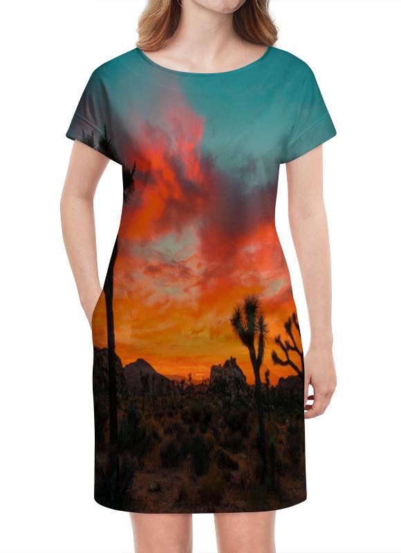 Платье летнее Printio Закат в пустыне платье летнее в москве