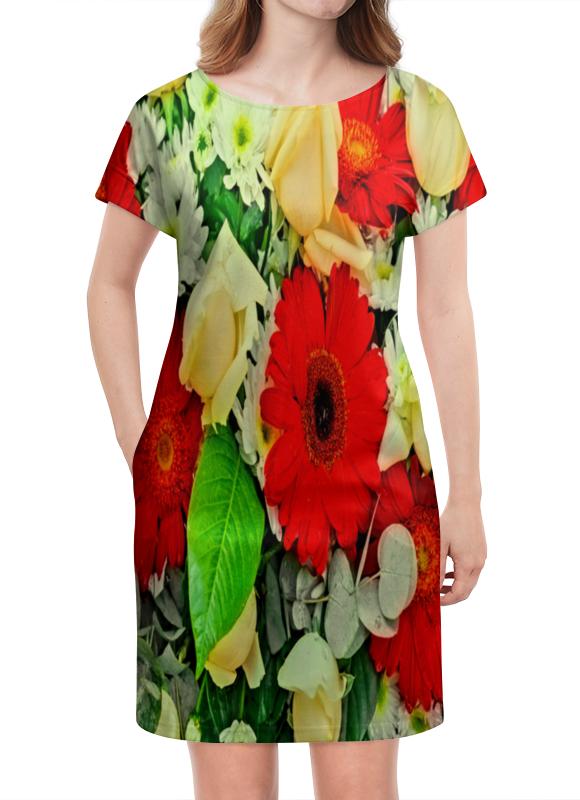 Платье летнее Printio Букет цветов букет из цветов жасмина