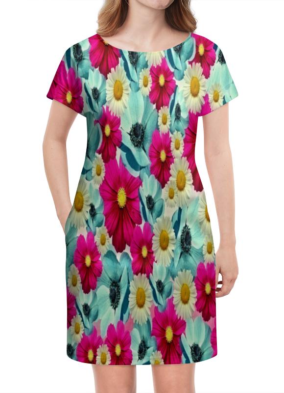 Платье летнее Printio Цветочный сад платье летнее printio сад земных наслаждений