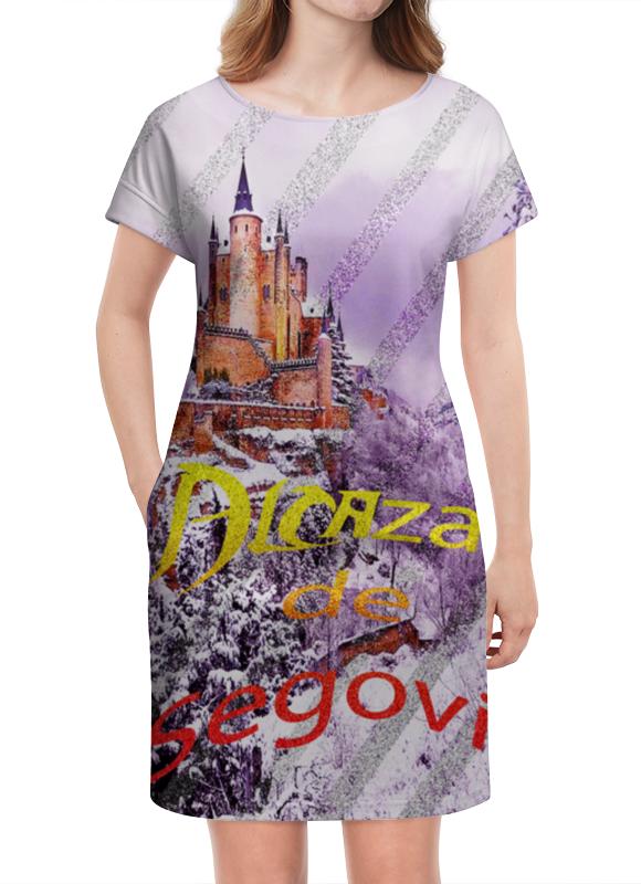 Платье летнее Printio Испанский замок сеговия. deroace велосипедный цепной стальной замок для электрокара электро мотороллера мотора