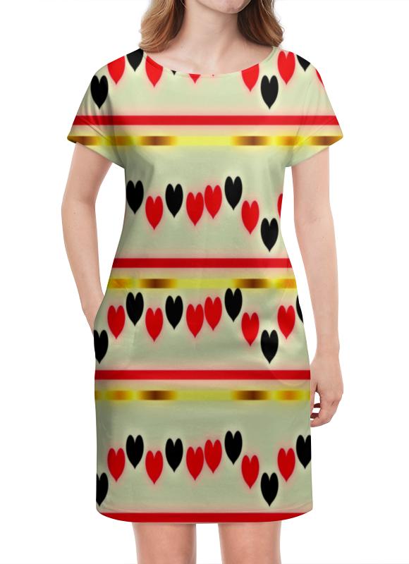 Платье летнее Printio Сердечки деловой костюм effects of color 044