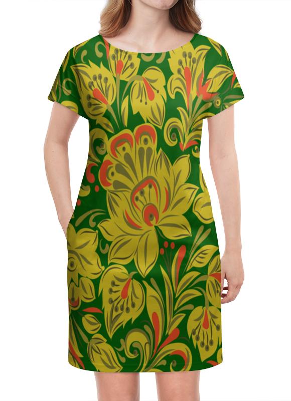 Платье летнее Printio Расписные цветы платье летнее printio расписные черепа