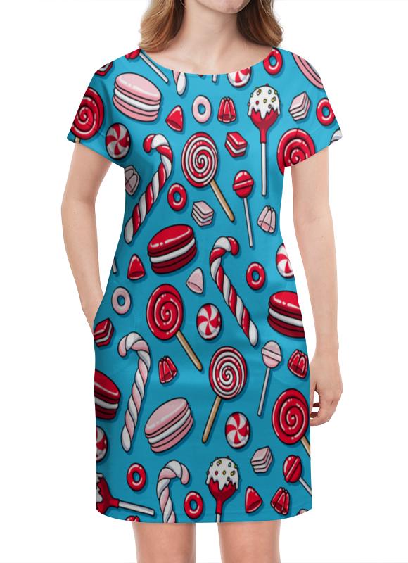 Платье летнее Printio Сладости сладости раскраска