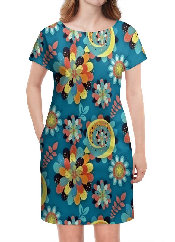 Платье летнее Printio Цветы в красках платье летнее в москве