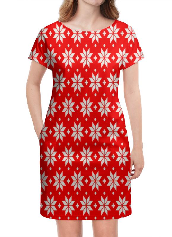 Платье летнее Printio Красно-белый узор ирландский красно белый сеттер украина