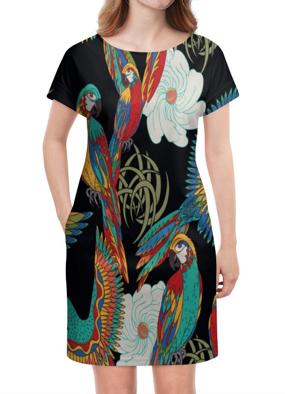 Платье летнее Printio Попугаи попугаи розелла фото москва