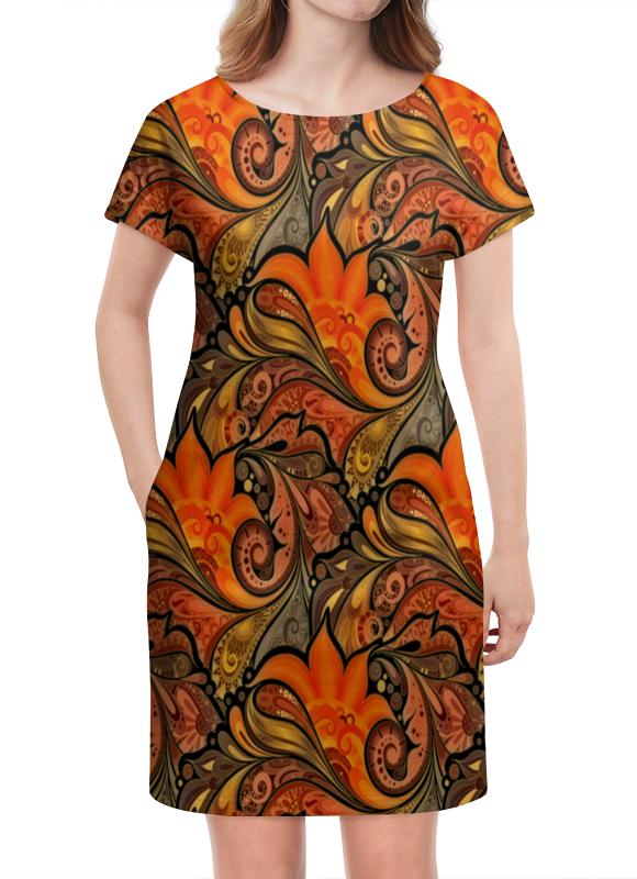Платье летнее Printio Расписные узоры платье летнее printio расписные черепа