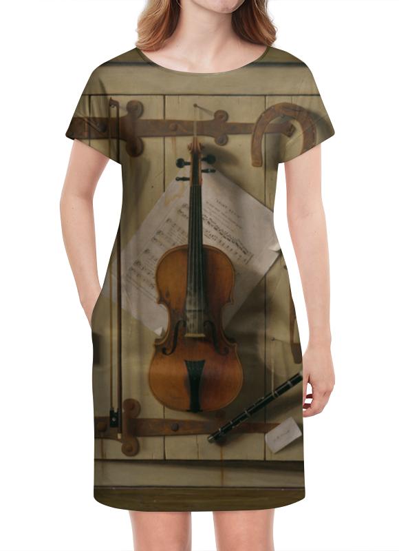 Платье летнее Printio Натюрморт со скрипкой (уильям харнетт) пазл castor land 68 47см натюрморт со скрипкой и живописью 1000эл