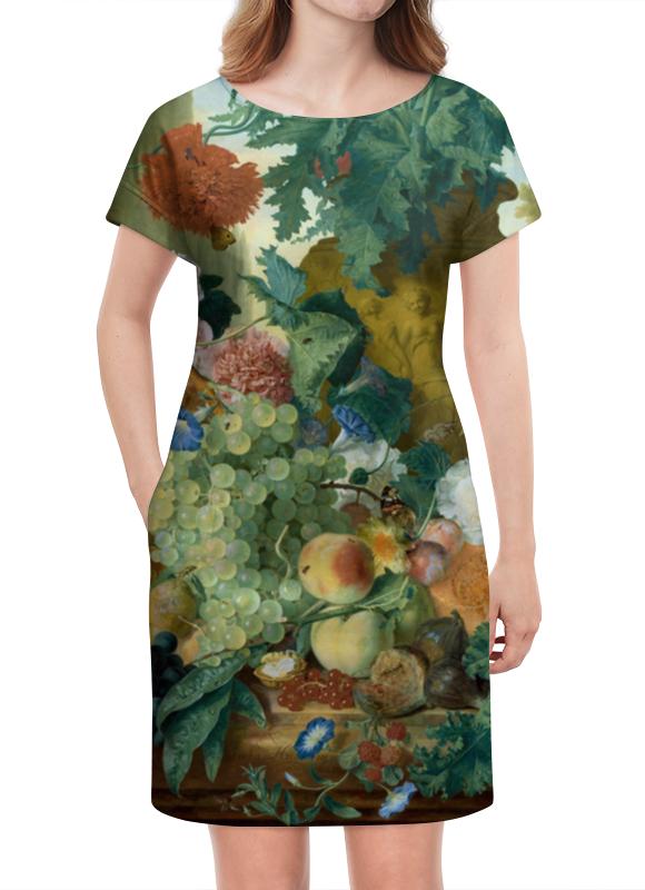 Платье летнее Printio Фрукты и цветы (ян ван хёйсум) ян ван гойен альбом isbn 9785779344791