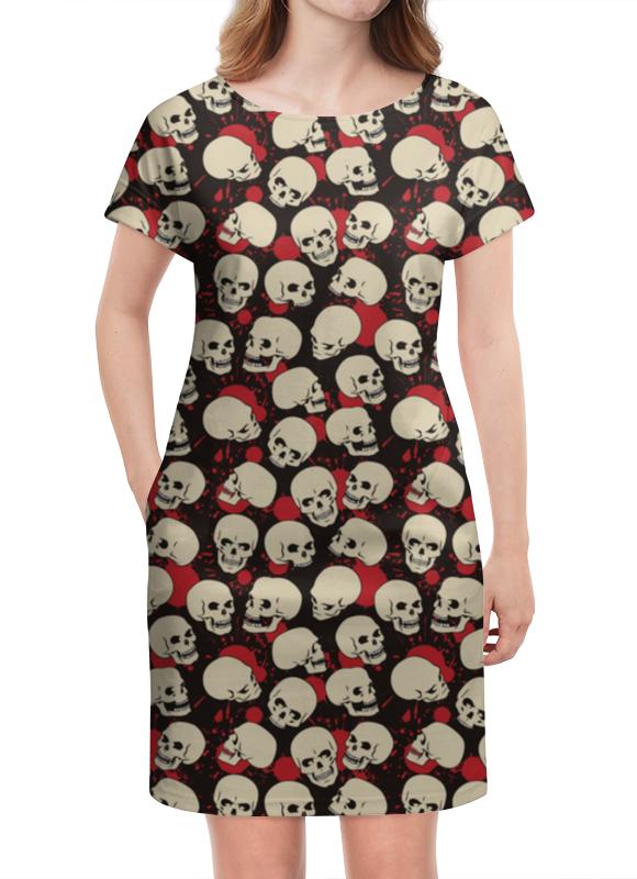 Платье летнее Printio Крупные черепа платье летнее printio расписные черепа