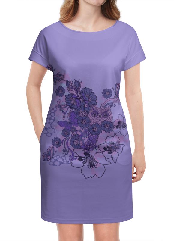 Платье летнее Printio Сова в цветах платье летнее в москве