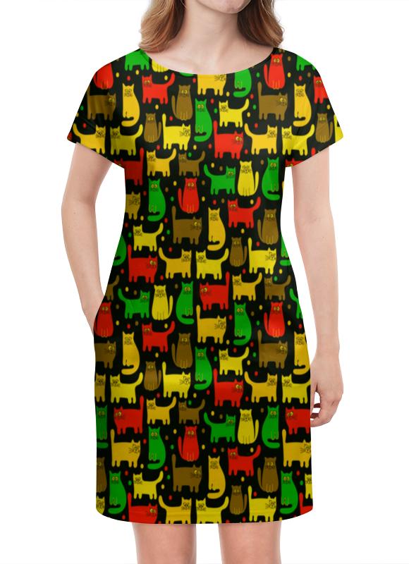 Платье летнее Printio Котятушки платье летнее printio березка