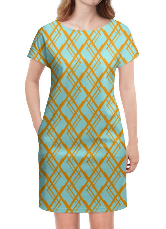 Платье летнее Printio Оранжевая клетка