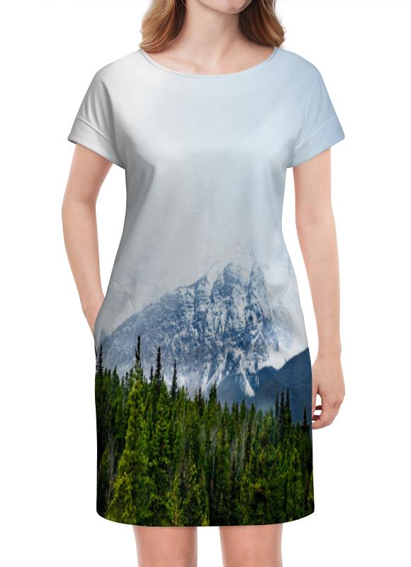 Платье летнее Printio Снежные горы
