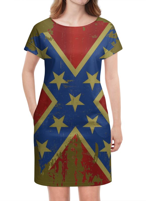 Платье летнее Printio Флаг конфедерации сша флаг пограничных войск россии великий новгород