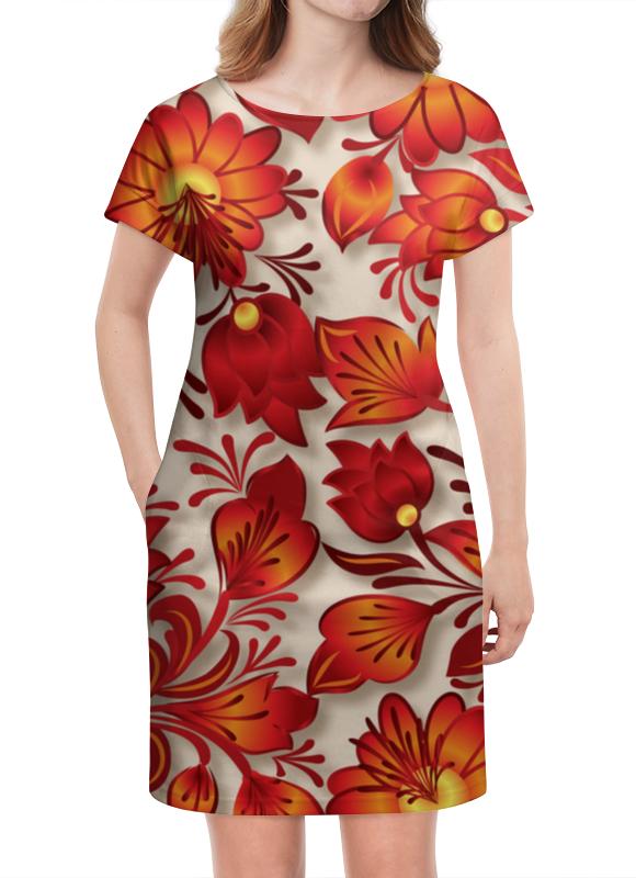 Платье летнее Printio Цветы платье летнее printio пересечение