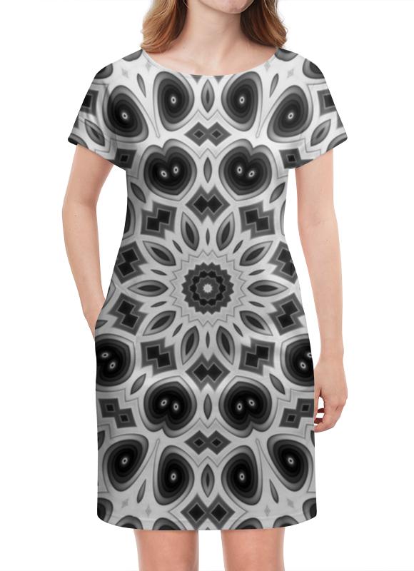 Платье летнее Printio Черно-белая мандала giftman трафарет мандала 16 21х21см