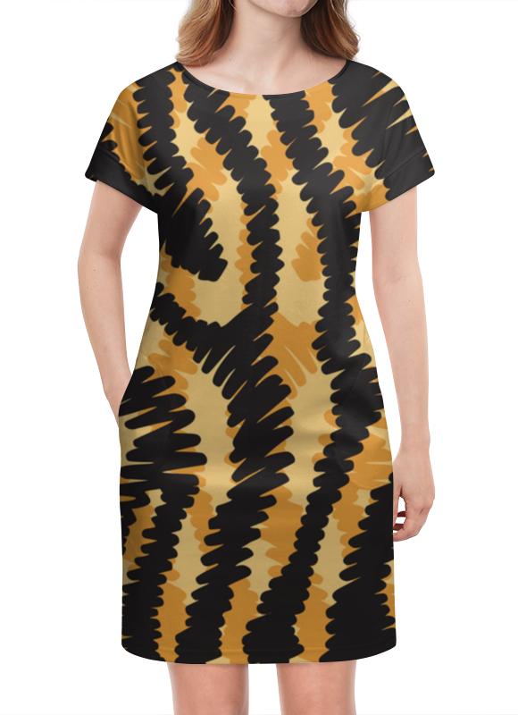 Платье летнее Printio Тигровый тигровый орех купить в москве