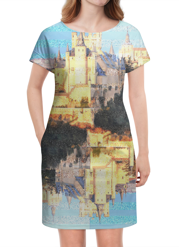 Платье летнее Printio Испанские замки.замок сеговия.