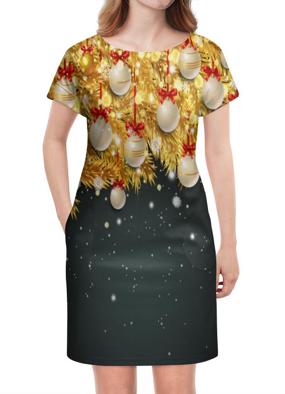 Платье летнее Printio Новогодние украшения casual style print and canvas design satchel for women