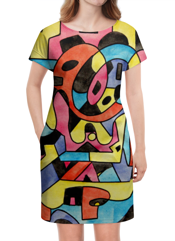 Платье летнее Printio Ttt`12ll палатка tepee тотеm 2 цвет зеленый ttt 003 09