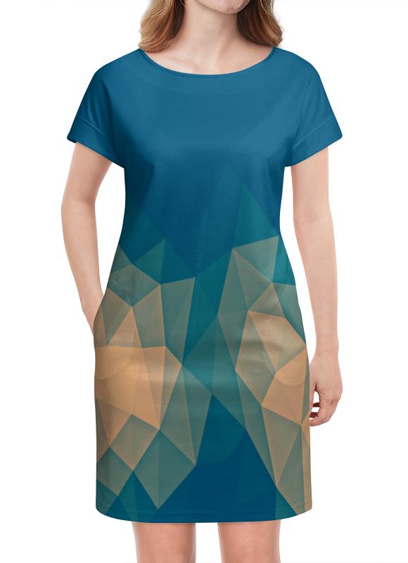 Платье летнее Printio Объемный синий