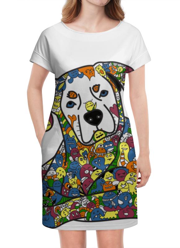 Платье летнее Printio Собака из дудл монстров дудл дог