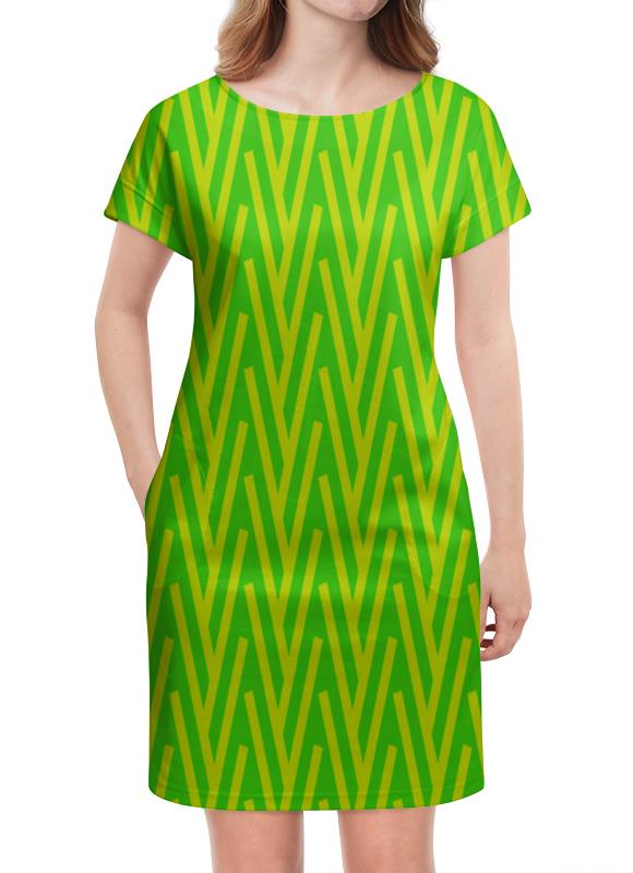 Платье летнее Printio Желто-зеленый узор жучок zhorya желто зеленый