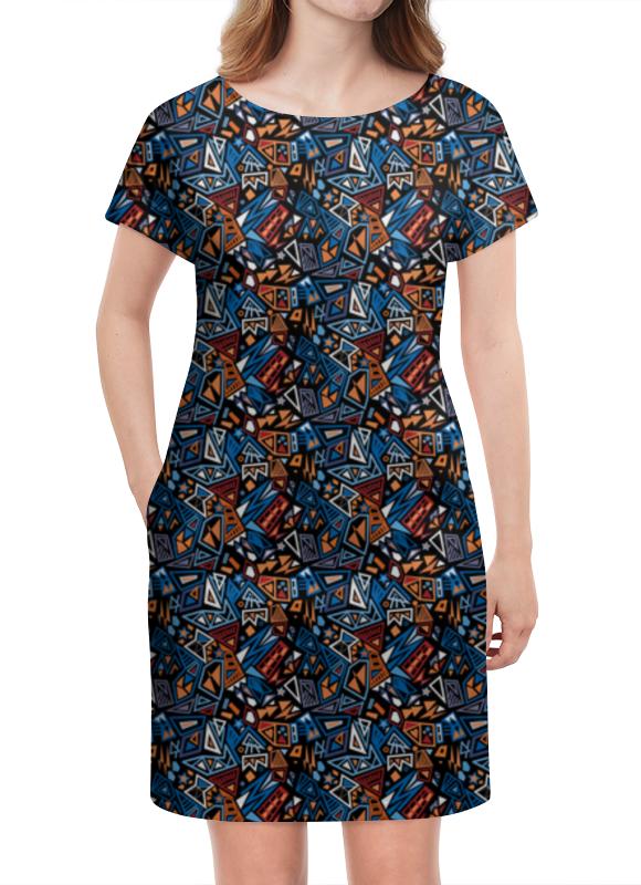 Платье летнее Printio Модный и стильный геометрический паттерн платье летнее printio модный и стильный геометрический паттерн