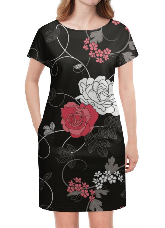 Платье летнее Printio Красная и белая розы