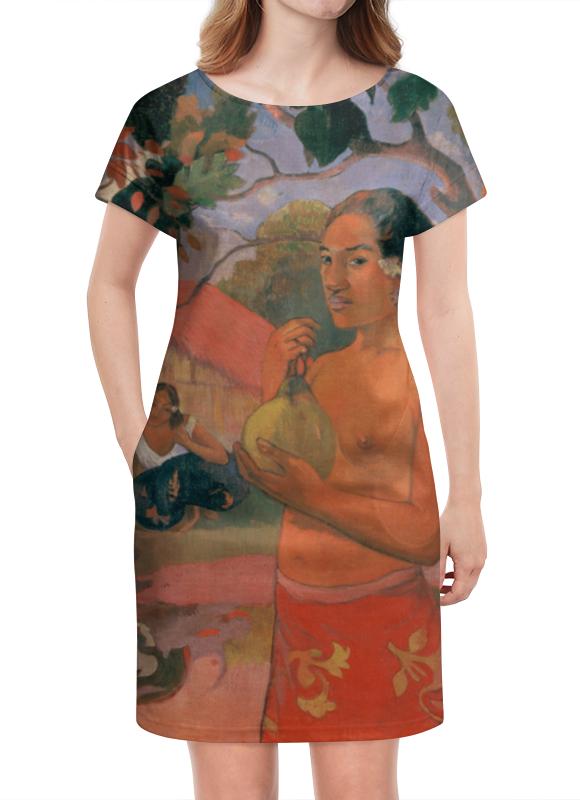 Платье летнее Printio Женщина, держащая плод (поль гоген) рюкзак с полной запечаткой printio женщина держащая плод поль гоген