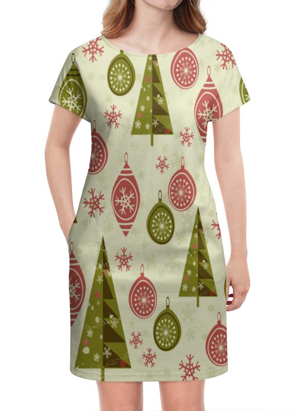 Платье летнее Printio Елки и игрушки шахова м новогодние елки и игрушки