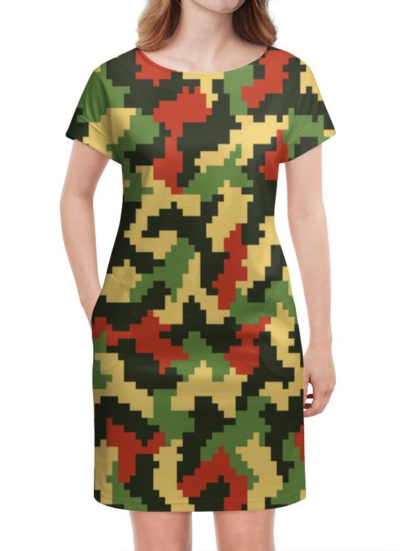 Платье летнее Printio Камуфляж хаки