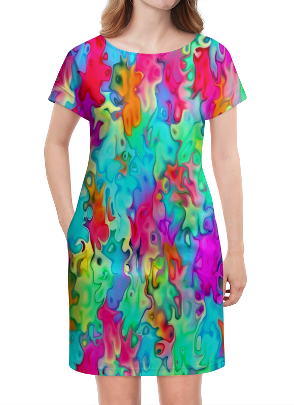 Платье летнее Printio Краски на воде платье с рукавами printio краски на воде