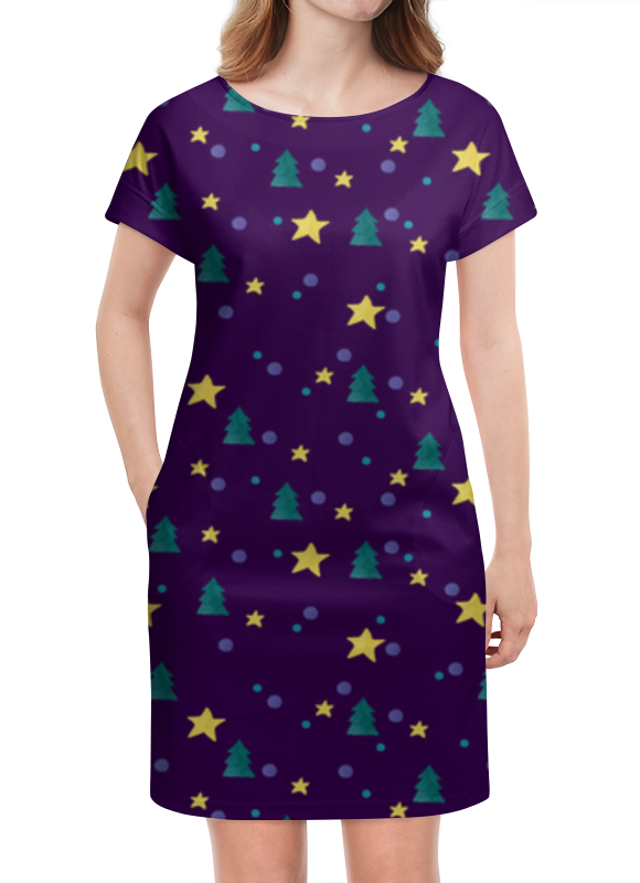 Платье летнее Printio Елки и звезды