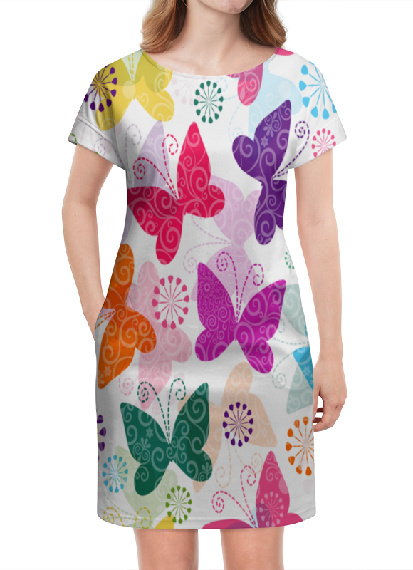 Платье летнее Printio Бабочки printio платье летнее