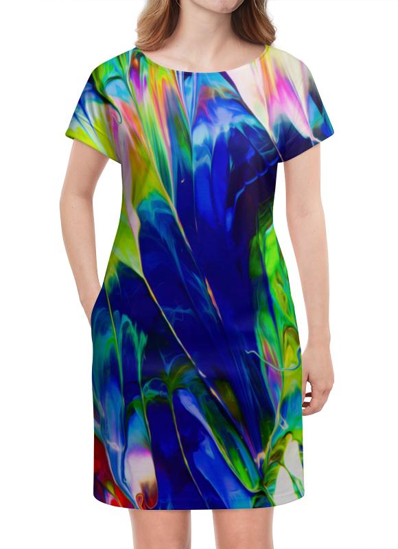 Платье летнее Printio Переливы красок шиммер алмазные переливы кристалл декор шиммер алмазные переливы