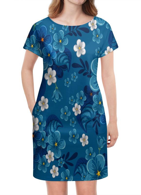 Платье летнее Printio Цветки printio платье летнее