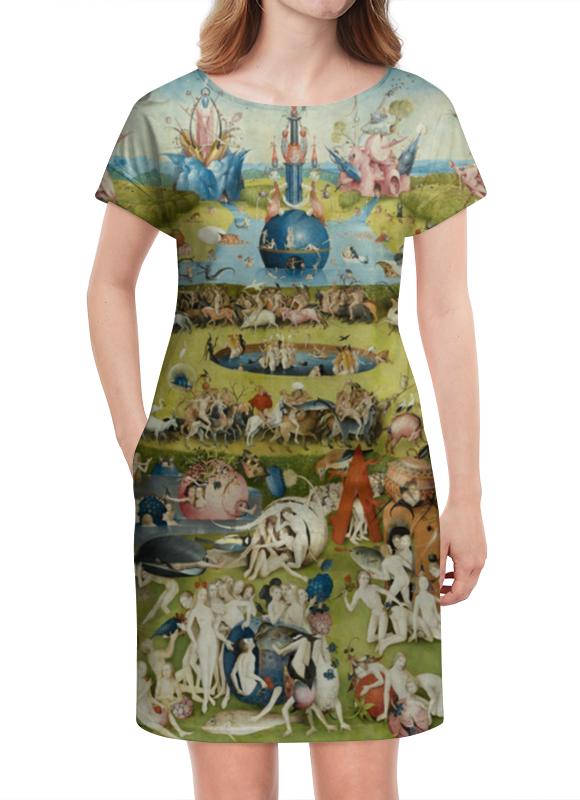Платье летнее Printio Сад земных наслаждений футболка print bar сад земных наслаждений