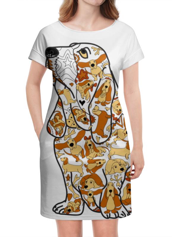 Платье летнее Printio Смешная собака бассет купить щенкак в донецке бассет