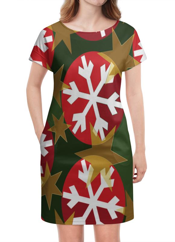 Платье летнее Printio Новогодние шары