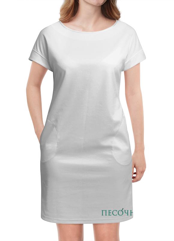 Платье летнее Printio Стрейч женская песочня, лого спереди