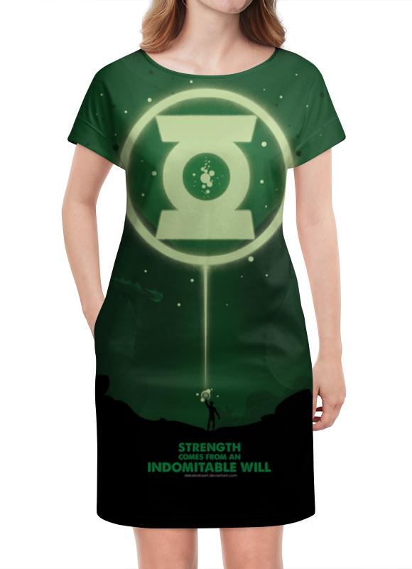 Платье летнее Printio Green lantern / зеленый фонарь green lantern brightest day