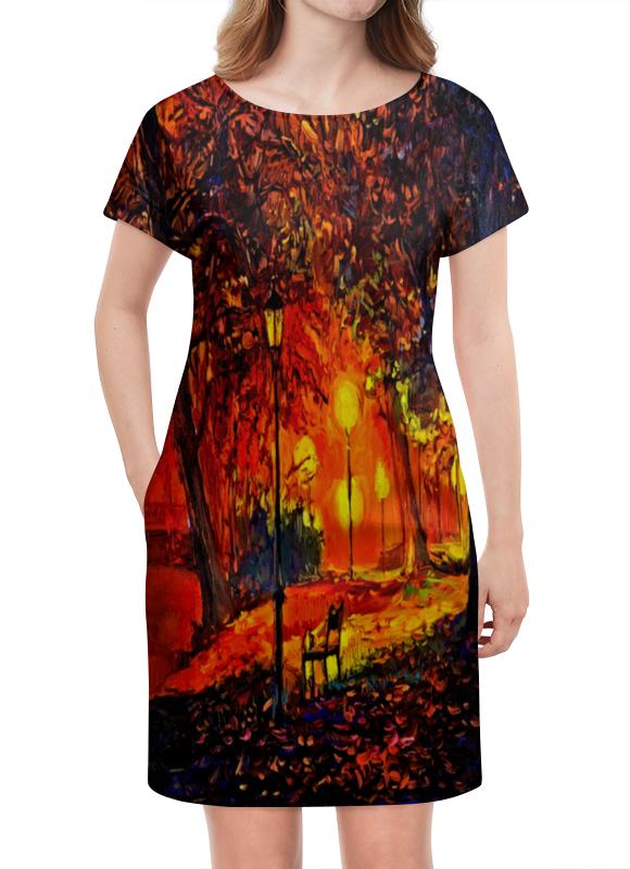 Платье летнее Printio Осенняя улица