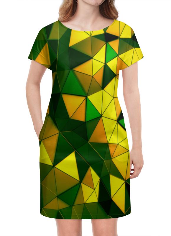 Платье летнее Printio Желто-зеленые стекла