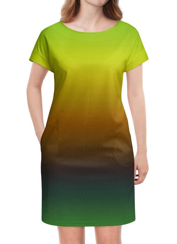 Платье летнее Printio Переход цвета переход