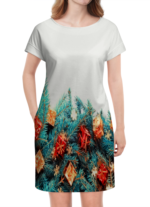 Платье летнее Printio Подарки на елке сумка printio подарки