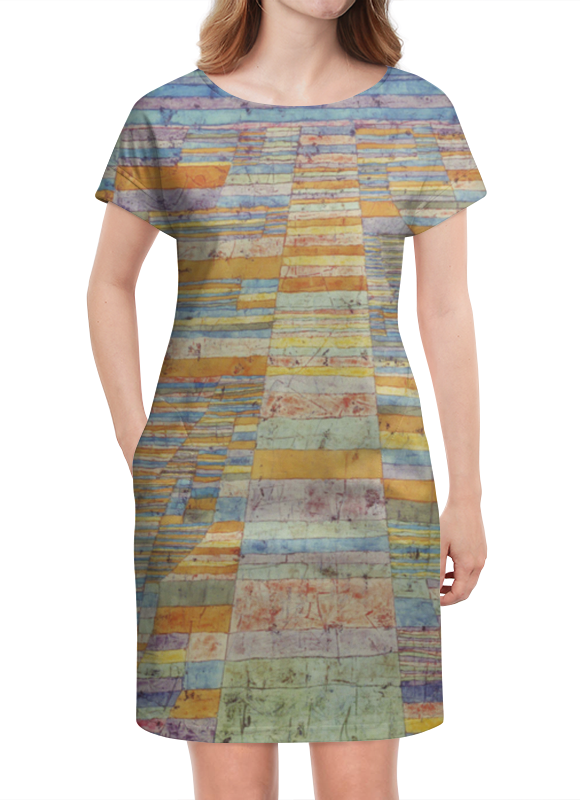 Платье летнее Printio Шоссе и переулки (пауль клее) актиферт в москве дмитровское шоссе