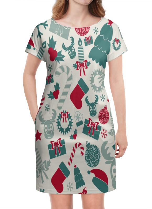 Платье летнее Printio Новогоднее настроение